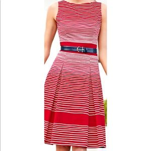 Talbots Anchor Red Stripe Dress Sz 6 NWOT